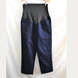 Ann Taylor LOFT Cropped Capri Maternity Jeans 10